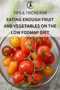 This is how you eat enough fruit and vegetables on the low FODMAP diet Low Fodmap Fruits, Low Fodmap Vegetables, Fodmap Recipes, Diet Recipes, Healthy Recipes, Healthy Homemade Snacks, Fodmap Diet, Fodmap Foods, Foods With Gluten