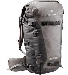 Arc'teryx Arrakis 50 weather-resistant and seam-sealed, durable backpack, ideal for skiing, cragging, and hiking.