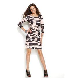 INC International Concepts Petite Geo-Print Sheath Dress - on #sale 47% off @ #Macys  #IncInternationalConcepts