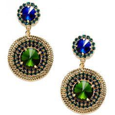 Sparkling Sage — серьги Blue & Green