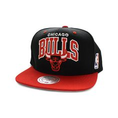 Chicago Bulls Snapbacks Hats Mitchell Ness Caps NBA Arch ( 17) ❤ liked on  Polyvore 95002956feef