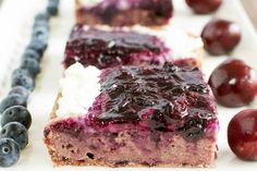 Festive, fruity and fabulous, these squares will be a hit at your summer bbq.