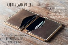 Wallet PERSONALIZED Leather Wallet Card Wallet Mens Wallet