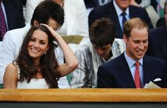 William and Kate at Wimbledon today