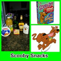Scooby Snack Pudding Shots. 1 small Pkg. vanilla instant pudding 1/2 C Milk 1 C pineapple juice 1/3 C melon liqueur 1/3 C banana schnapps 1/3 C Malibu Rum 2-8oz tubs Cool Whip Directions 1. Whisk together the milk, liquor, and instant pudding mix in a bowl until combined. 2. Add cool whip a little at a time with whisk. 3.Spoon the pudding mixture into shot glasses, disposable 'party shot' cups or 1 or 2 ounce cups with lids. Place in freezer for at least 2 hours
