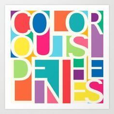 Outside The Lines Art Print by Jacqueline Maldonado - $18.00