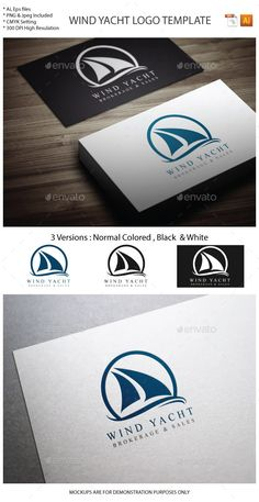Wind Yacht Logo Template #design #logotype Download: http://graphicriver.net/item/wind-yacht-logo-template/12354639?ref=ksioks
