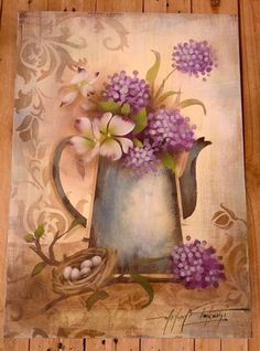 Stencils, Stencil Painting, Tole Painting, Fabric Painting, Painting On Wood, Pintura Country, Decoupage Vintage, Decoupage Paper, Ceramic Wall Art