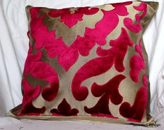 """Designers Guild Fabric """"Morosini Damson"""" Cut Velvet Upholstery Fabric, From Jane Hall Design Velvet Upholstery Fabric, Drapery Fabric, Curtains, Decorative Cushions, Decorative Pillow Covers, Beige Couch, Gold Pillows, Throw Pillows, Hall Design"""