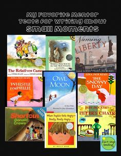 Mentor text for Stretching those Small Moments -- Personal Narratives Writing Mentor Texts, Personal Narrative Writing, Writing Lessons, Writing Skills, Personal Narratives, Writing Ideas, Writing Process, Writing Rubrics, Paragraph Writing