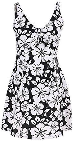 Bawdy Women's Lovely Plus Size One Piece Swimdress Swimsuit Swimwear, Black Floral, XL Bawdy http://www.amazon.com/dp/B01BEY31L0/ref=cm_sw_r_pi_dp_qI5Zwb1XTP5MW