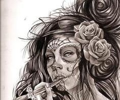Día de los Muertos art inspiration. Want this as a tattoo! if only I had space!