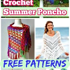20 Free Crochet Summer Poncho Patterns for Women's