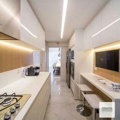 Decoração de cozinhas estreitas para apartamentos pequenos