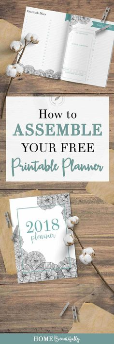 Did you download your free printable planner? This 2018 free printable planner has a weekly, monthly, and daily layout as well as a habit tracker, gratitude journal, and meal planning worksheet. Hop to www.homebeautifully.com to download your free planner and learn how to assemble it! #printables #printableplanner #calendar #2018planner Similar ideas: printable planner pages free | monthly printable calendar | weekly printable planner | printable calendar | 2018 free printable calendar