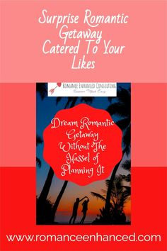 Get Help In Planning A Surprise Romantic Getaway, Even If You Are Not The Romantic Type! Get A Surprise Romantic Getaway That Is All Planned For You By A Romance Coach! This getaway will impress your sweetheart and help you to feel reconnected and in love again with your spouse! #romanticgetaway #easygiftforcouples #romanticvacations #romanticvacay #couplesvacations #coulplevacationideas #couplesgetaways #surpriseromanticgetaways Romantic Weekend Getaways, Romantic Vacations, In Plan, How To Plan, Romantic Dates, Make It Simple, Romance, Feelings, Type