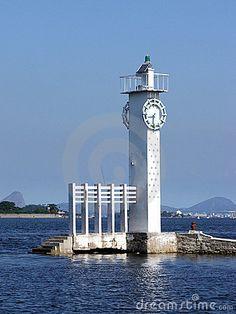 Lighthouse and clock - Paqueta island - Rio de Janeiro.