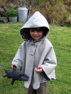 hooded cape. need to make one of these for Ella! would be much easier than a coat getting in and out of the carseat!