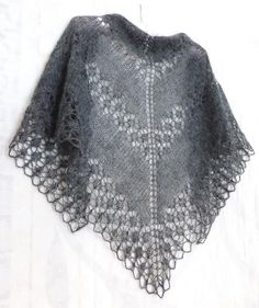 Hand Knit Lace Shawl - buy or order in an online shop on Livemaster Easy Knitting, Knitting For Beginners, Knitting Patterns, Scarf Patterns, Lace Scarf, Knit Lace, Mohair Yarn, Knitted Shawls, Handmade Clothes