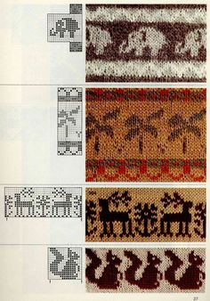 Jacquard does not happen much - for beads, knitting, weaving and dot painting. Discussion on LiveInternet - Russian Service Online Diaries Fair Isle Knitting Patterns, Knitting Charts, Knitting Stitches, Knit Patterns, Baby Knitting, Stitch Patterns, Motif Fair Isle, Fair Isle Chart, Fair Isle Pattern