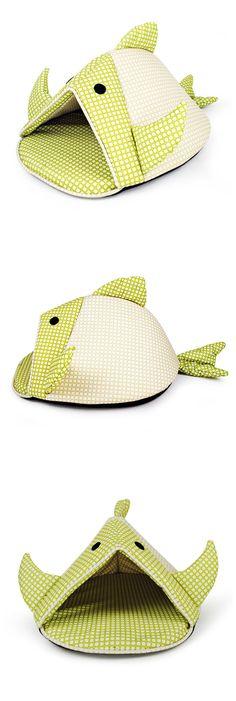Fish Cotton Pet Bed