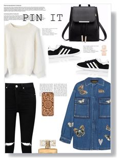 """""""Pin It Up"""" by abbes03 ❤ liked on Polyvore featuring Boohoo, Chicwish, Valentino, adidas, Sonia Rykiel, Big Bud Press, Givenchy, Felony Case, love and smile"""