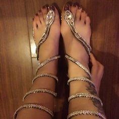 Rhinestone Thong Flat Heel Summer Enchanting Flat Sandals