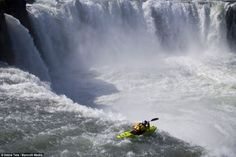 The Top 30 Whitewater Kayaking Photos by Red Bull Jackson Kayak, White Water Kayak, Iceland Waterfalls, Largest Waterfall, Whitewater Kayaking, Beautiful Waterfalls, The Good Place, Perfect Place, Beautiful Places