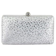 Menbur Crystal Minaudiere ($100) ❤ liked on Polyvore featuring bags, handbags, clutches, white, crystal minaudiere, minaudiere purse, white handbags, crystal purse and white purse