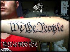 We The People Tattoo by Enoki Soju by enokisoju.deviantart.com on @DeviantArt