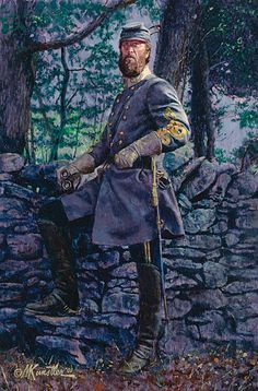 "General Thomas J. ""Stonewall"" Jackson at Fredericksburg, Virginia, December Print by Mort Kunstler. Military Art, Military History, American Civil War, American History, British History, American Art, Civil War Art, Southern Heritage, Southern Pride"