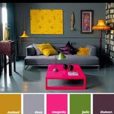 Gray Living Room Interior Design with Bright Accents Beautiful Decoration for Small Living Room Ideas Living Room Grey, Home And Living, Living Room Decor, Small Living, Modern Living, Grey Room, Cozy Living, Living Room Designs, Living Spaces