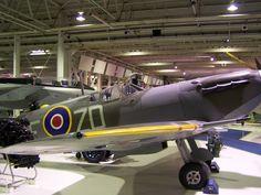Spitfire at RAF Hendon