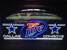 Vintage Dallas Cowboys Miller Lite New Stadium Neon LED One of a Kind