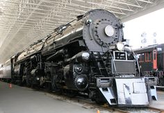 One of the last large steam locomotives built by the Norfolk and Western at their stops in Roanoke.