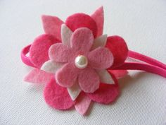 Felt Flower with Pearl Center