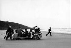 El rodaje del largo travelling final de Los 400 golpes de FrançoisTruffaut (Les quatre cents coups, 1959). Shooting the long finish traveling of The 400 Blows of FrançoisTruffaut (Les quatre cents coups , 1959).
