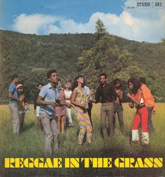 Digging the stencil font on what is quite a weird picture. Looks like a cult, everyone seem oblivious to each other – like those 'silent raves' where you wear headphones. The photography is credited to Jackie Estick. More - http://reggaealbumcovers.com/reggae-in-the-grass-various-artists-1969/