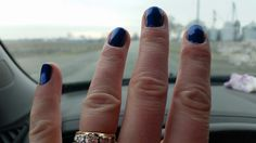 CND Shellac Overtly Onyx with Sapphire pigment effects by Jill G.