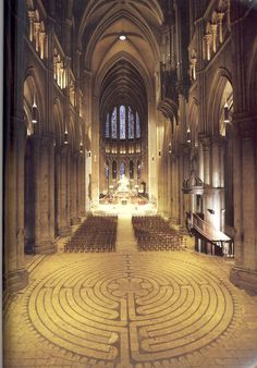 The Chartres Labyrinth.  I will be going there to learn about labyrinths and to walk it of course.