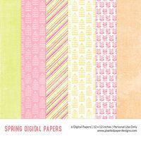 Free Digital Paper Spring by pixeledpaper