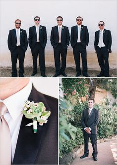 black and pink groomsman looks http://www.weddingchicks.com/2013/09/24/simple-and-classic-weddingimple-and-classic-wedding/