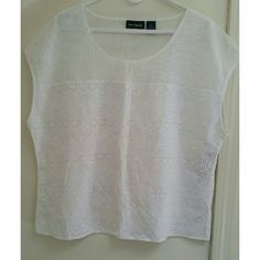 NEW DKNY JEANS Top NEW DKNY JEANS White Cotton Top. Perfect combination of mesh and embroidery for spring and summer. Lightweight, breathable top.   100% cotton  Size L DKNY Tops Blouses