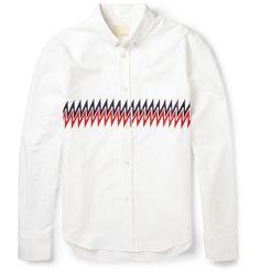 Band of Outsiders Zig-zag Printed Cotton Shirt
