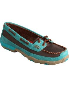 4231dae94138 Twisted X Women s Brown and Turquoise Driving Mocs