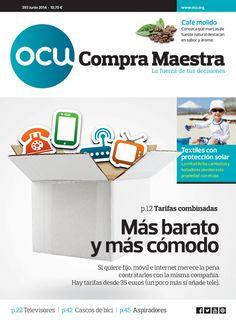 Compra Maestra nº393 (junio 2014): tarifas combinadas fijo-móvil, ordenadores, seguridad en apps, café, robots de cocina, balones de fútbol, cascos de bici...
