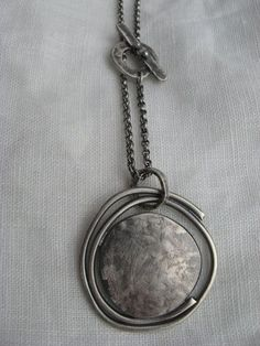 Jewelry | Jewellery | ジュエリー | Bijoux | Gioielli | Joyas | Art | Arte | Création Artistique | Artisan | Precious Metals | Jewels | Settings | Textures | Sterling silver orbit pendant by LisaColbyMetalsmith on Etsy #SterlingSilverJewellery #silvernicejewelry