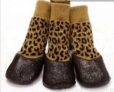 "USA SELLER Rain WaterProof Dog Shoes Socks Non-slip Rubber (BROWN, #3 Paw 2"" x 2.5"") - http://www.thepuppy.org/usa-seller-rain-waterproof-dog-shoes-socks-non-slip-rubber-brown-3-paw-2-x-2-5/"