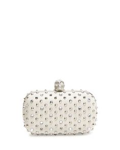 047b0d05fc Alexander McQueen Stud   Crystal Skull-Clasp Clutch Bag