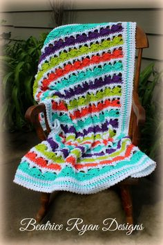 Fruit Stripe Baby Blanket Crochet Pattern - The perfect baby blanket pattern for a crib!